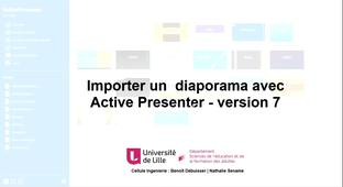 Active Presenter V7 - Intégrer un diaporama