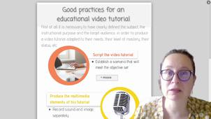 Good practices for an educational video tutorial