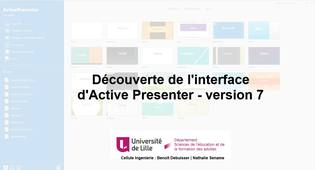 Active Presenter V7 - L'interface d'accueil