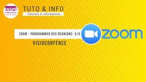 Zoom - Programmer une réunion via l'application