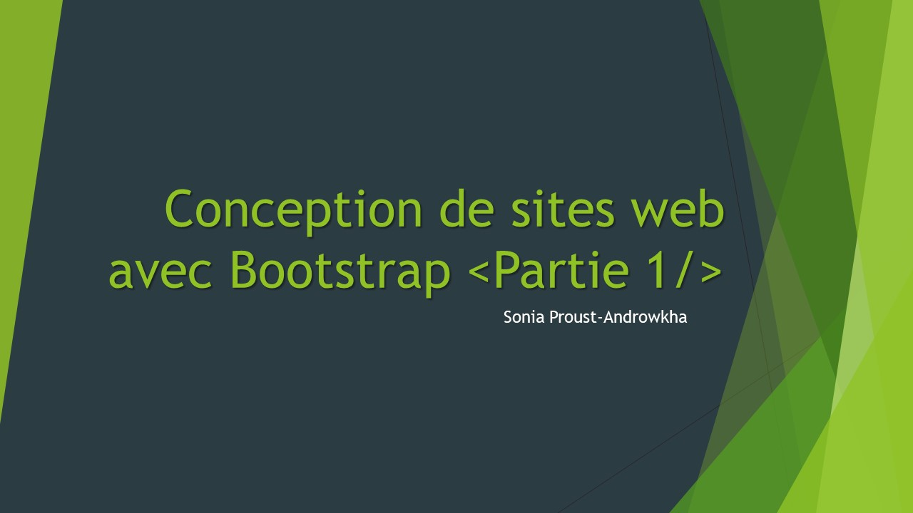 Conception de sites web avec Bootstrap <Partie 1/>