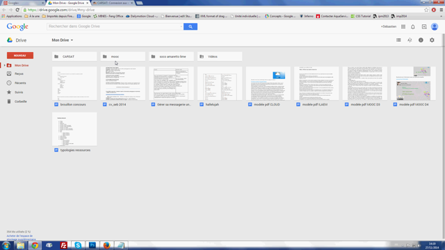 Screencast sur google drive