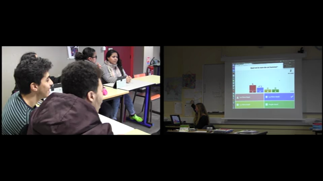 Observation of a training session: French as a Second Language