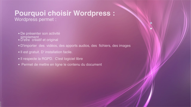 scénario d'usage Wordpress