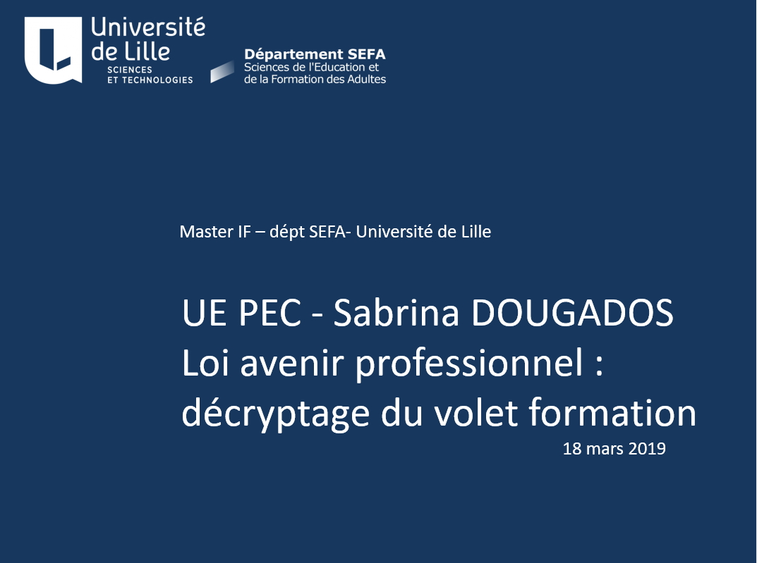 M2IF  Intervention de Sabrina DOUGADOS