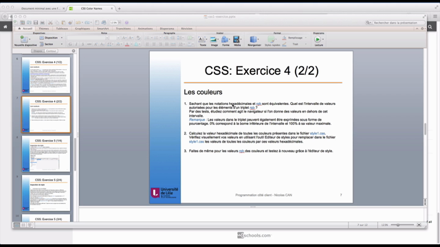 CSS : exercice 4 - Les couleurs