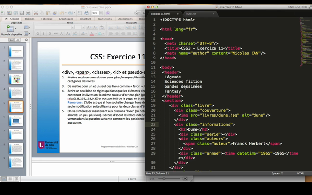CSS : Exercice 11 - div, class, span, id et pseudo-element