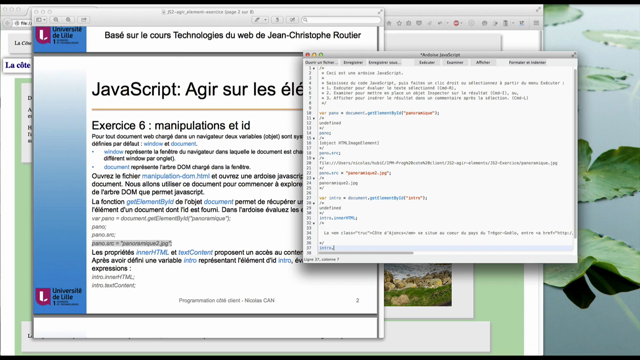 JS : exercice 6 - Manipulations et Id